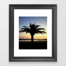 Silhouette of a Palm  Framed Art Print