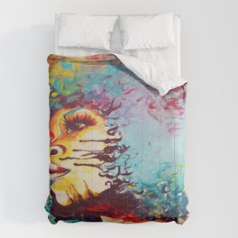 Unstrained Afro Blue Comforters