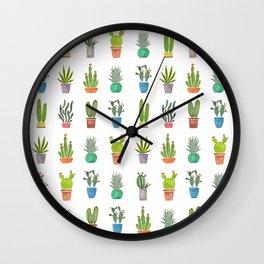 Mini Cactus Garden Wall Clock