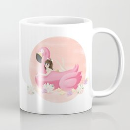 Summer Pool Party - Flamingo Float D Coffee Mug