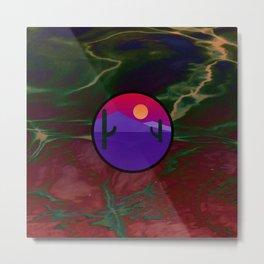 Desert Dawn on Psychedelic Swirl Metal Print