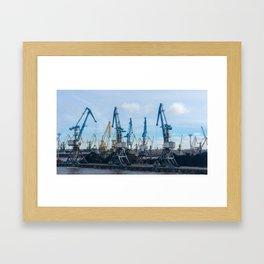 Harbor of Riga Framed Art Print