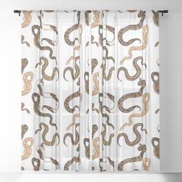 Plenty of Pythons - Light Sheer Curtain