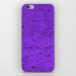 Bright Neon Purple Brick Wall iPhone Skin