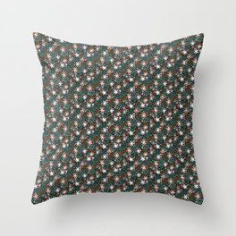 Woodland Ditsy Floral Pattern Throw Pillow