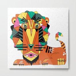 Bauhaus Lion Metal Print