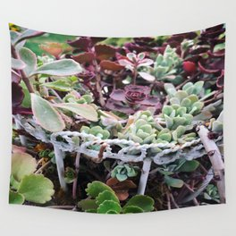 A Succulent Garden Wall Tapestry