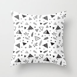 Organic Triangles Throw Pillow