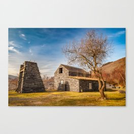 Welsh Quarry Buildings Canvas Print