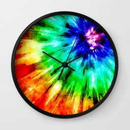 Tie Dye Meets Watercolor Wall Clock