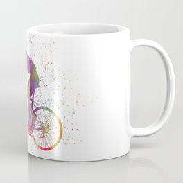 Cyclist competing in watercolor 03 Coffee Mug