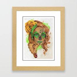 Sugar Skull Beauty Framed Art Print
