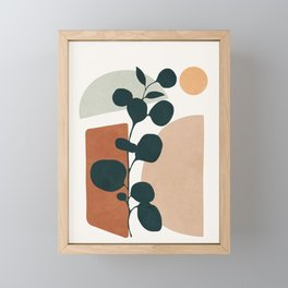 Soft Shapes V Framed Mini Art Print