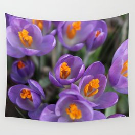 Bunch of Crocus Wall Tapestry