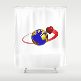 love is all around, #hatetolove Shower Curtain