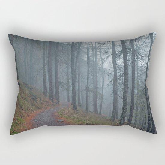Forest vibes #foggy Rectangular Pillow