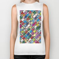pills Biker Tanks featuring Colorful Pills by Sr Manhattan