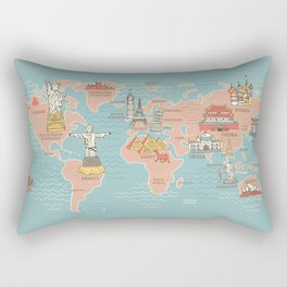 World map cartoon style art print by anukunhamala society6 world map cartoon style rectangular pillow gumiabroncs Images
