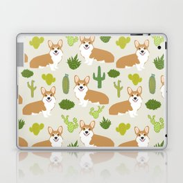 Welsh Corgi cactus southwest desert dog breed corgis gifts Laptop & iPad Skin