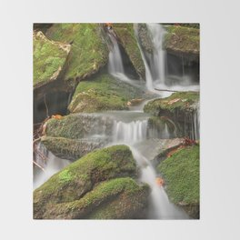 Mossy Rohrbaugh Waterfall Throw Blanket