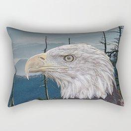 Bald Eagle in the Mountains Rectangular Pillow