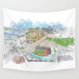 Fenway Park Wall Tapestry