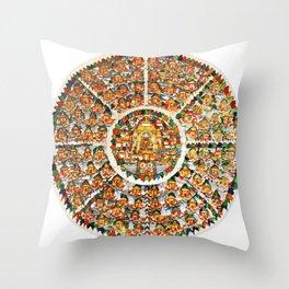 Mandala Buddhist Shambala 32 Throw Pillow
