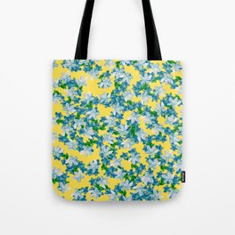 Summer Flowers Yellow Tote Bag