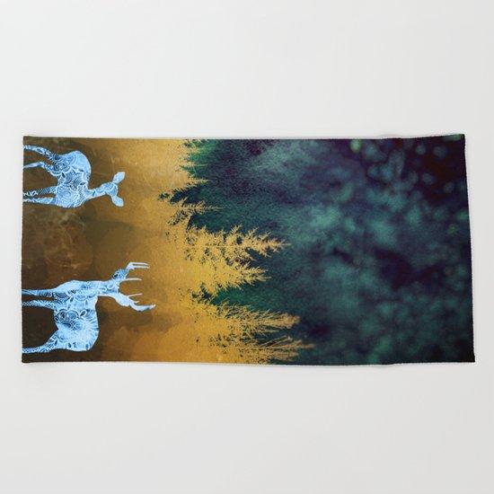 Midnight Meeting Beach Towel