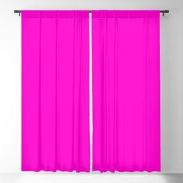 Pink neon color bright summer Blackout Curtain