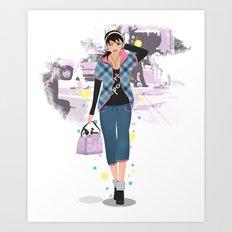 Going downtown #6 Art Print