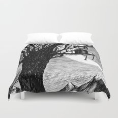 Lonely Robot Duvet Cover