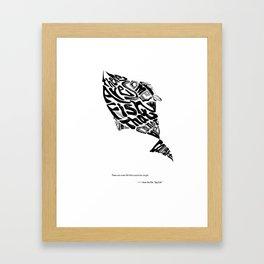 calligram poster Framed Art Print