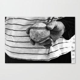 Grip on Vintage Baseball Canvas Print