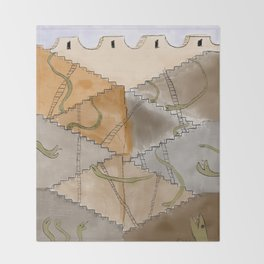 Snakes and Ladders Throw Blanket