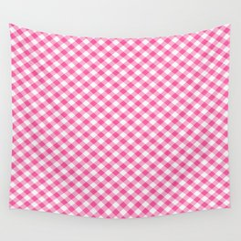 Pink Roses in Anzures 1 Gingham 1 Wall Tapestry