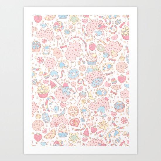 Dreamy Sweets Art Print