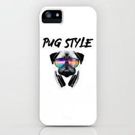 Pug Style iPhone Case