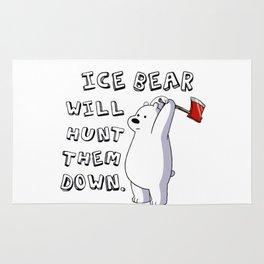 Ice bear the hunter Rug