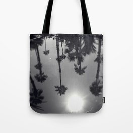 Palm Tree Reflection Tote Bag
