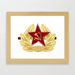 Soviet Cap Badge Framed Art Print