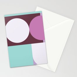 Geometric Circle and block Pattern Stationery Cards