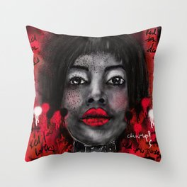Chin-up!! Throw Pillow