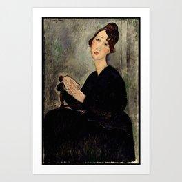 "Amedeo Modigliani ""Portrait of Dedie"" Art Print"