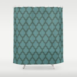 Turquiose Moroccan Shower Curtain