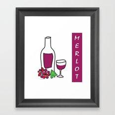Merlot Wine Framed Art Print