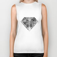 diamond Biker Tanks featuring Diamond by fyyff
