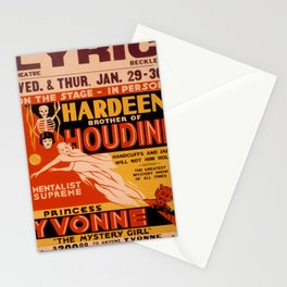 Vintage poster - Hardeenm Brother of Houdini Stationery Cards