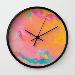 full color abstract sunset Wall Clock