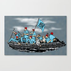 Team Zissou Crossing the Delaware Canvas Print